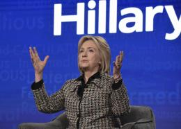 """Hillary Clinton participates in the Hulu """"Hillary"""" panel during the Winter 2020 Television Critics Association Press Tour, on Friday, January 17, 2020, in Pasadena, Calif. (Photo by Richard Shotwell/Invision/AP)"""
