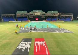 West Indies' T20 against Ireland was washed out.