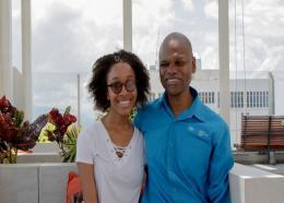 Zara Harris with her Father Conrad Harris