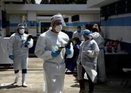 Personnel médical à Guatemala City le 7 juillet 2020 afp.com - Johan ORDONEZ 09