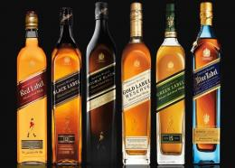 The more popular types of whisk(e)y include: Blended Scotch Whisky, Single Malt Scotch Whisky, Bourbon, Rye, and Tennessee Whiskey. ( photo courtesy of Johnnie Walker)