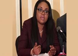 Minister of Sports and Community Development of Trinidad and Tobago Shamfa Cudjoe.