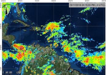 Photo courtesy the Trinidad and Tobago Meteorological Service.