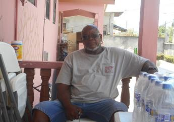Bernard Aristide at his home