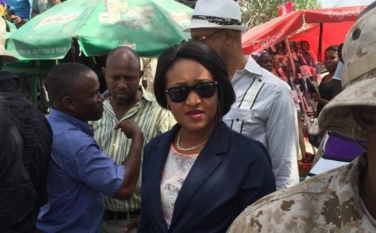 La mairesse de Tabarre Nice SImon      (Photo: Rezonodwes)