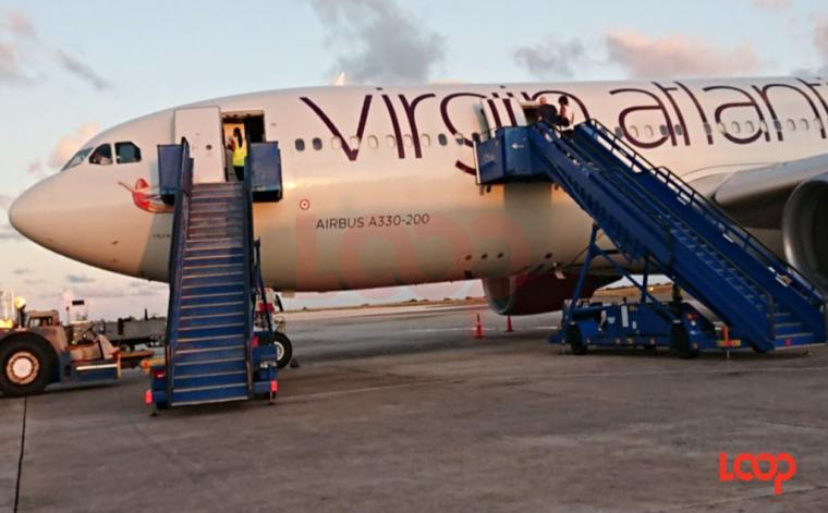 Virgin Atlantic plane at Grantley Adams International Airport (FILE)