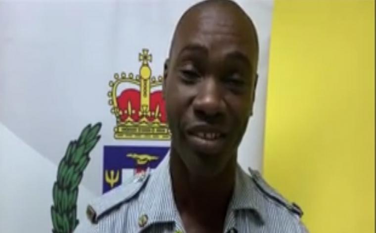 Sergeant Richard Morgan of the Denham Town Police Station.