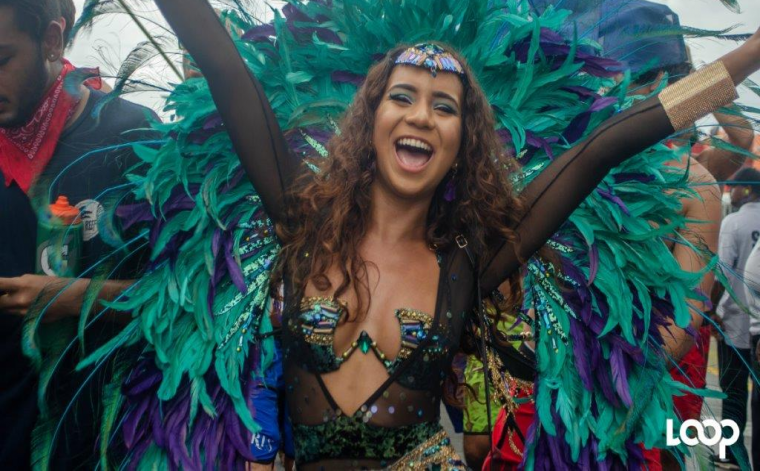 A reveller from Harts 2020 in Trinidad. Most Caribbean Carnivals have been cancelled due to COVID-19.