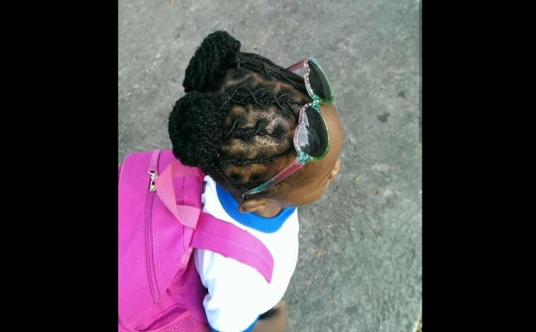 A photo of the then five-year-old girl who was refused full access to Kensington Primary.