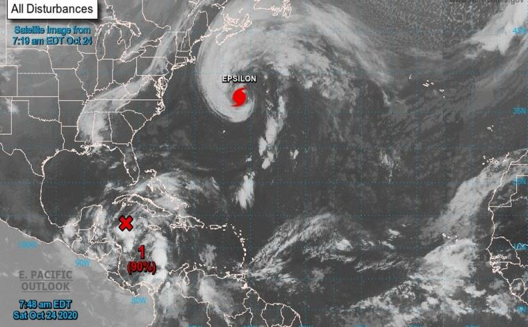 A new system near Grand Cayman has a 90 percent chance of developing into a tropical depression in the next day.