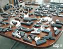 Seized guns on display