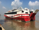 Photo: The new catamaran vessel purchased by Government can carry up to 700 passengers and 100 vehicles. (Photo provided by the Ministry of Finance.)