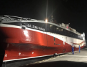 The Galleons Passage has completed its journey to Trinidad, where it will be put to service on the inter-island sea bridge. Photo via Facebook, NIDCO.