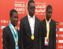Aaron Ali, centre, won gold in one of the Equestrian events, contributing to the SOTT's medal haul