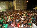 A section of the crowd in Tivoli Gardens for the nine-night in honour of late former Prime Minister, Edward Seaga. (PHOTOS: Llewellyn Wynter)