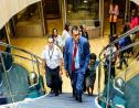 Works and Transport Minister Rohan Sinanan tours the Jean de la Valette on June 28, 2019.