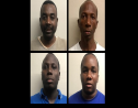 From left to right: Sgt. Preston George, Eldon Asoon, Leon Edwards, Keon Attzs