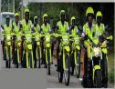 Members of the Public Safety and Traffic Enforcement Branch (PSTEB) of the Jamaica Constabulary Force (JCF).