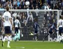 Watford's Abdoulaye Doucoure, 16 at 2nd right, celebrates scoring the first goal of the game against Tottenham in the English Premier League at Tottenham Hotspur Stadium in London, Saturday Oct. 19, 2019. (Jonathan Brady/PA via AP).