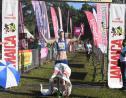 Englishwoman Rosamund Ponder winning the female section of Reggae Marathon 2019 in Negril, Westmoreland on Sunday morning.