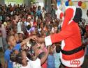 Santa gets a huge welcome