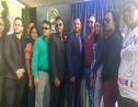 CSM Founder George Singh with past winners of CSM and other supporters