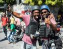 Les photojournalistes Jean Marc Hervé Abélard (a gauche) et Dieu-Nalio Chery (a droite), lors d'une manifestation de l'opposition à Port-au-Prince en 2019. Crédit photo: Valerie Baeriswyl/K2D