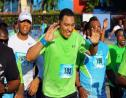 Prime Minister Andrew Holness reacts after completing the Sagicor Sigma Corporate Run 2020 on Sunday.