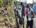 Clean up in Piat, Grande Riviere