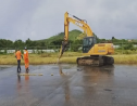 Work commences on the Hewanorra International Airport project.