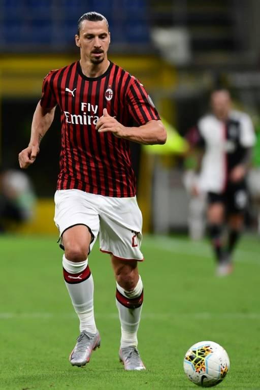 L'attaquant de l'AC Milan Zlatan Ibrahimovic contre la Juventus, le 7 juillet 2020 au stade San Siro    ( AFP / Miguel MEDINA )